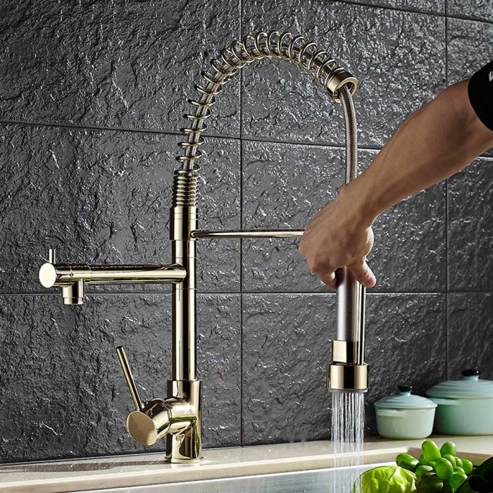 Brass-360-Degree-Rotatable-One-Hole-Kitchen-Faucet-with-Ceramic-Valve-Single-Handle