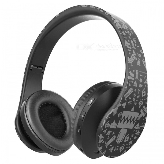 OldShark Foldable Bluetooth Headphones Over Ear Stereo Wireless Headset Earphones with MicrophoneHeadphones<br>Form  ColorBlackBrandOLDSHARKModelN/AMaterialABS+PU leatherQuantity1 DX.PCM.Model.AttributeModel.UnitConnection3.5mm Wired,BluetoothBluetooth VersionBluetooth V4.1Bluetooth ChipCSR8635Operating Range10MConnects Two Phones SimultaneouslyYesCable Length100 DX.PCM.Model.AttributeModel.UnitLeft &amp; Right Cables TypeEqual LengthHeadphone StyleBilateral,HeadbandWaterproof LevelIPX0 (Not Protected)Applicable ProductsUniversalHeadphone FeaturesEnglish Voice Prompts,Phone Control,Long Time Standby,Noise-Canceling,Volume Control,With Microphone,Portable,Invisible StyleRadio TunerNoSupport Memory CardNoSupport Apt-XNoPacking List1 x Old Shark Bluetooth Headphones1 x USB Charging Cable(0.8M)1 x Auxiliary Audio Cable(1M)1 x User Manual<br>