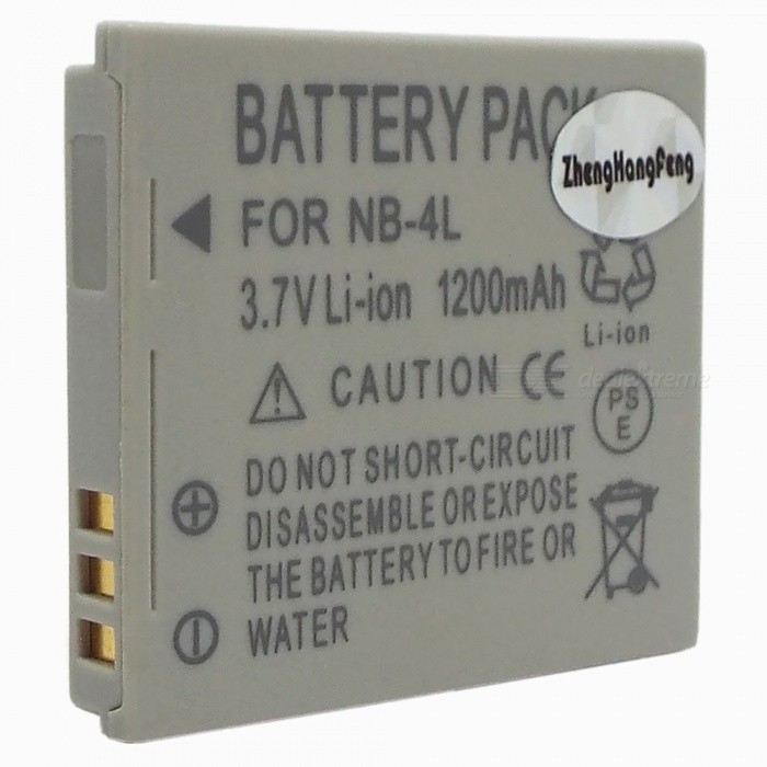 NB-4L Compatible 3.7V 1200mAh 3.3Wh Battery Pack for Canon