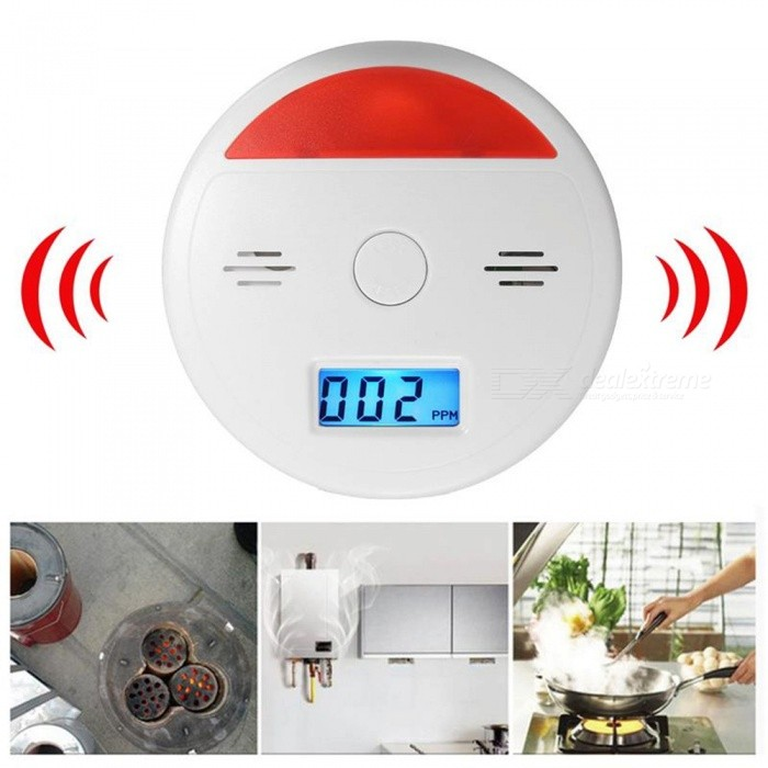 Buy Carbon Monoxide Gas Alarm Detector with LCD Digital Display with Litecoins with Free Shipping on Gipsybee.com