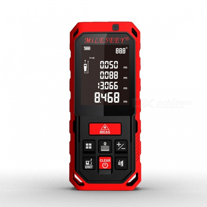 Mileseey S2 60m 2.0 LCD Handheld Laser Distance RangefinderLaser Rangefinder, Electronic Distance Meter<br>Form  ColorRed + blackForm  ColorBlack + RedModelS2Quantity1 DX.PCM.Model.AttributeModel.UnitMaterialABS + TPEDetection Range0.2-60mMeasuring Accuracy±2mmLaser Level630-670nm1mWDisplay2.0Powered ByOthers,3?AAA battery powered(NI-MH rechargeable battery)Battery included or notYesEnglish Manual / SpecYesPacking List1 x Laser rangefinder 3 x AAA batteries 1 x User manual 1 x Strap<br>