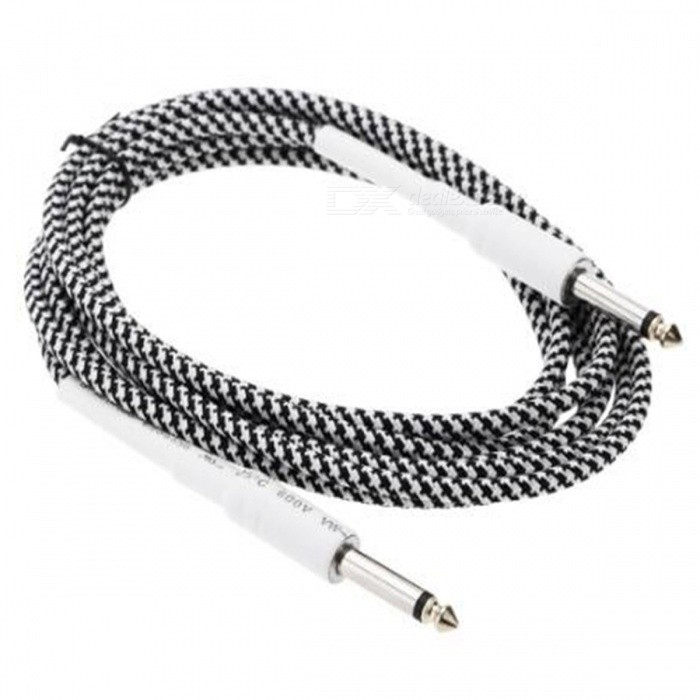 6.35mm to 6.35mm M-M Braided Audio Cable for Guitar - Black + White (8m)Audio And Video Cables<br>ColorBlack+WhiteMaterialABSQuantity1 DX.PCM.Model.AttributeModel.UnitConnector GenderMale to MaleConnector6.35mmPacking List1 x Guitar cable<br>