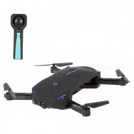 M9952 Wi-Fi FPV Foldable Selfie Mini RC Helicopter Drone with HD 720P Camera, Optical Flow Positioning - Black + Green