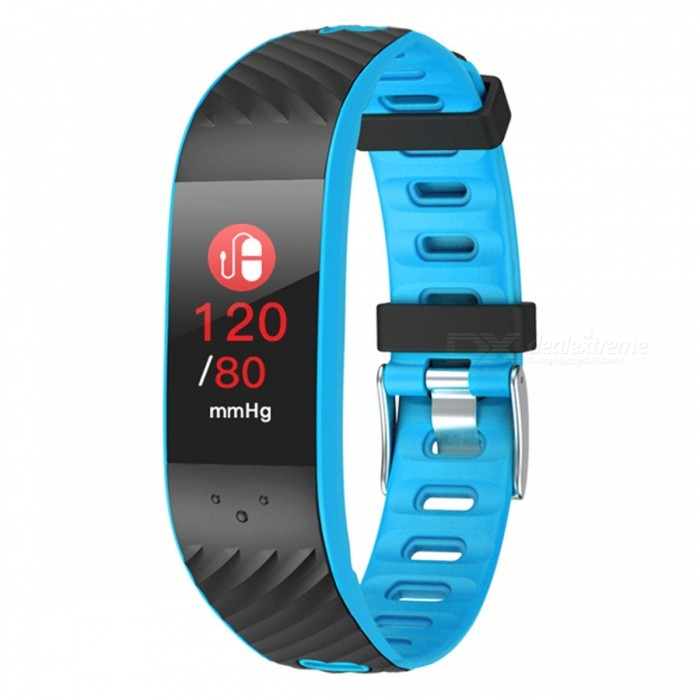 P4 Color Screen Intelligent Bluetooth Bracelet w/ Blood Pressure Movement, Heart Rate Monitoring, IP67 Waterproof - BlueSmart Bracelets<br>ColorBlueModelP4Quantity1 DX.PCM.Model.AttributeModel.UnitMaterialTPUWater-proofIP67Bluetooth VersionBluetooth V4.0Touch Screen TypeOthers,OLEDOperating SystemAndroid 4.4,iOSCompatible OSAndroid IOSBattery Capacity130 DX.PCM.Model.AttributeModel.UnitBattery TypeLi-ion batteryStandby Time10 DX.PCM.Model.AttributeModel.UnitPacking List1 x Smart Bracelet1 x User handbook1 x Charge line<br>