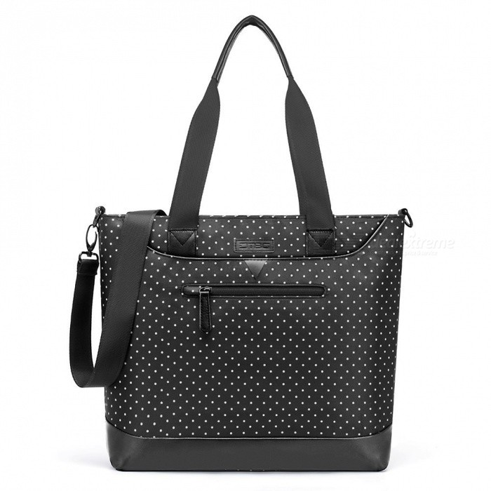 DTBG D8 White Dot 15.6 Inches Nylon Classic Work Travel Messenger Shoulder Bag, Office Briefcase Casual Handbag for WomenBags and Pouches<br>ColorBlack - White DotModelD8111WQuantity1 DX.PCM.Model.AttributeModel.UnitShade Of ColorWhiteMaterialNylonCompatible Size15.6 inchTypeTote BagsPacking List1 x Tote bag<br>