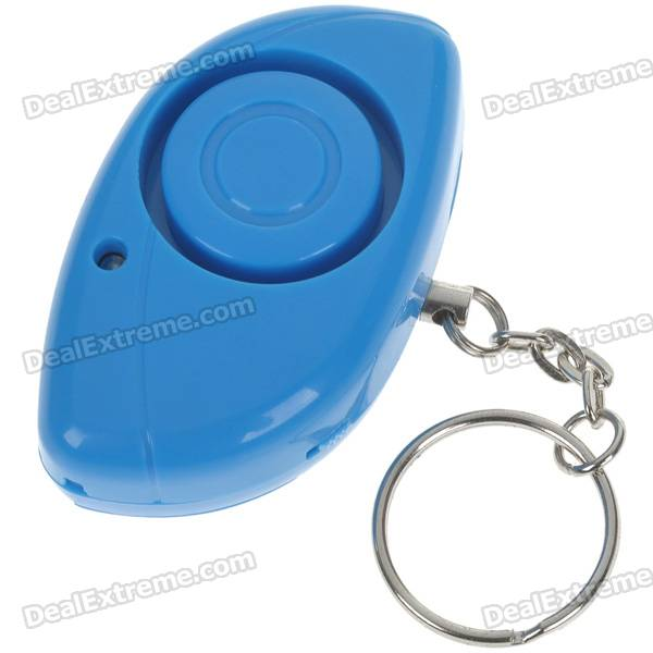 Personal Guard Safety Security Siren Alarm with LED Flashlight - Blue (2*CR2032)