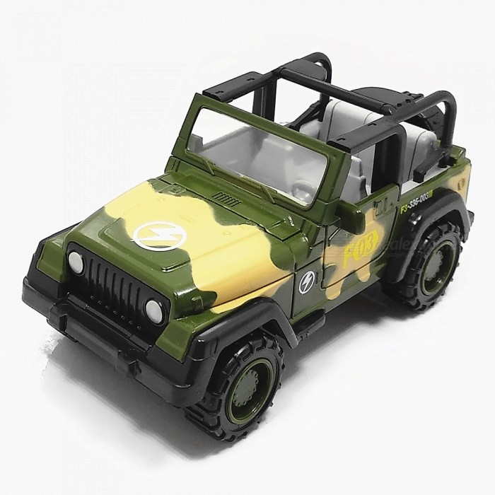1:55 Zinc Alloy Military Suvs Toy Car for Children / Office Decoration - CamouflageOther Toys<br>ColorCamouflageMaterialZinc Alloy + ABSQuantity1 DX.PCM.Model.AttributeModel.UnitSuitable Age 3-4 years,5-7 years,8-11 years,12-15 yearsPacking List1 x Car<br>
