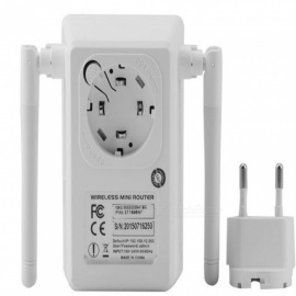 Portable-750Mbps-Wireless-Wi-Fi-Dual-Band-Repeater-w-Dual-Antenna-White