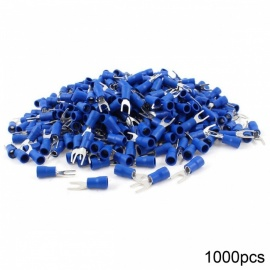 RXDZ-1000pcs-Blue-Pre-Insulated-Fork-Terminals-SV2-4S-for-AWG-16-14-Wire-8-Stud