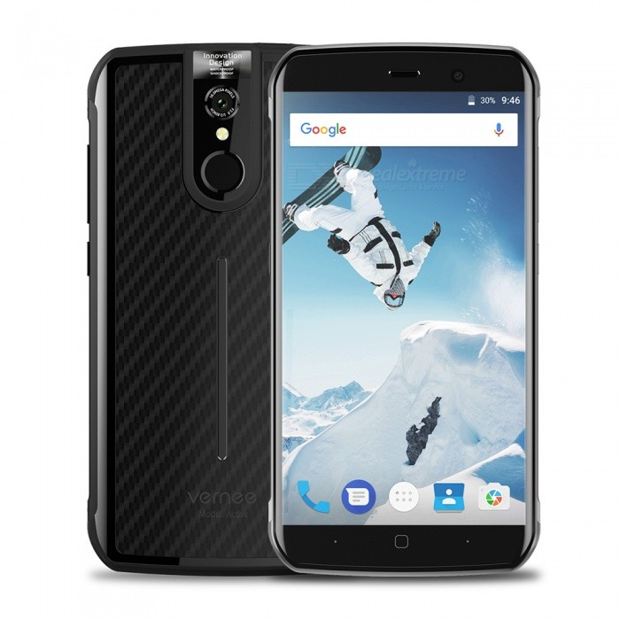 """Vernee Active Android 7.0 Dual SIM Octa-Core 5.5"""" 4G Phone with 6GB RAM, 128GB ROM, 4200mAh Battery - Black"""
