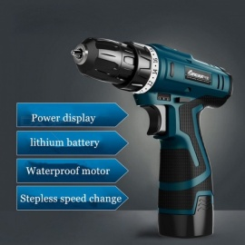 Longyun High Quality 12V 16.8V Rechargeable Lithium-ion Battery Electric Screwdriver, Home Type Cordless Screwdriver Mini Drill  16.8V And Box Bit