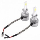JRLED C6 H1 36W Cool White Ultra Bright LED Headlamp Headlight - DC 12~24V (2PCS)