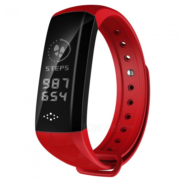 M2H 0.96 OLED BT4.0 IP67 Smart Bracelet with Heart Rate Monitoring - RedSmart Bracelets<br>ColorRedModelM2HQuantity1 DX.PCM.Model.AttributeModel.UnitMaterialPC + TPUWater-proofIP67Bluetooth VersionBluetooth V4.0Touch Screen TypeYesOperating SystemNoCompatible OSAndroid4.4 (contain), IOS8.0 contain) aboveBattery Capacity80 DX.PCM.Model.AttributeModel.UnitBattery TypeLi-polymer batteryStandby Time15 DX.PCM.Model.AttributeModel.UnitPacking List1 x Smart Bracelet1 x User Manual<br>