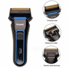 Kemei-Mens-Cordless-Rechargeable-Reciprocating-Double-Blades-Electric-Shaver-Razor-Trimmer-w-Floating-Heads-Black-2b-Blue