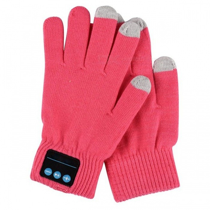 ST3 Bluetooth Touch Screen Handsfree Call Gloves - Pink
