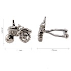 Charming Plating White Steel Cufflinks for Men - Tractor (Pair)
