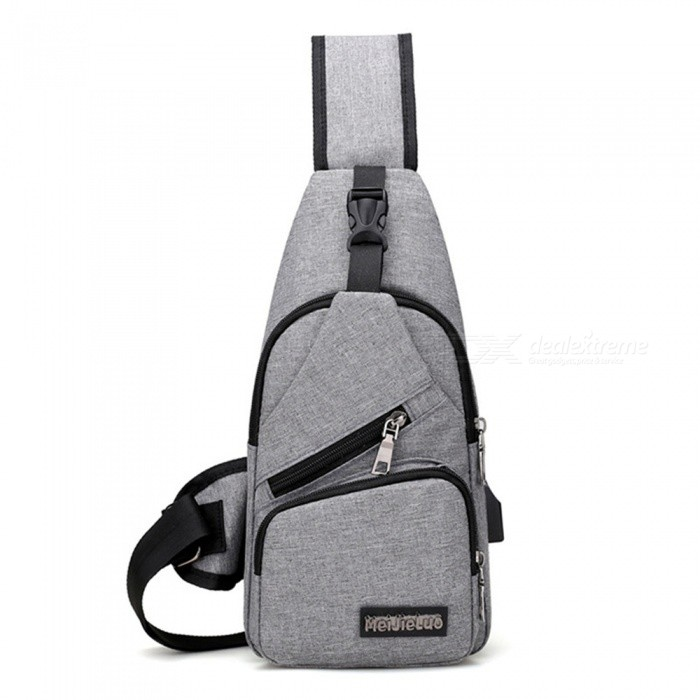 CTSmart 0817 Outdoor Travel 4L Waterproof USB Interface Leisure Shoulder Messenger Bag - GrayColorGrayBest UseClimbing,Backpacking,Mountaineering,TravelModel0817Quantity1 DX.PCM.Model.AttributeModel.UnitMaterialPolyesterCapacity Range0L~20LRaincover includedNoPacking List1 x Bag<br>