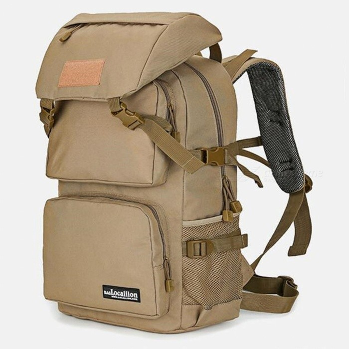 LOCAL LION 555 Multi-Function Outdoor Latest 36-55L Waterproof Hiking Backpack - Coffee
