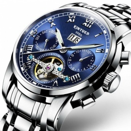 KINYUED-Luxury-Classic-Mens-Watches-Mechanical-Wristwatch-Sapphire-Stainless-Steel-Gentleman-Fashion-Watch-Blue