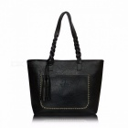 Portable-Large-Capacity-Womens-Shoulder-Tote-Bag-Messenger-Bag-with-Tassel-Fashion-Chic-PU-Leather-Handbag-Beautiful-bagblack