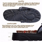 Feet Massage Reflexology Reflex Slipper Sandal, Rest Pebble Stone Acupuncture Foot Healthy Massager Shoes 42 43/Brown