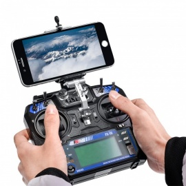 Portable Mobile Phone Holder Bracket for Flysky FS-i6 FS-i6X, FS-i6S or Turnigy TGY-i6, FS-i6X Transmitter - Black