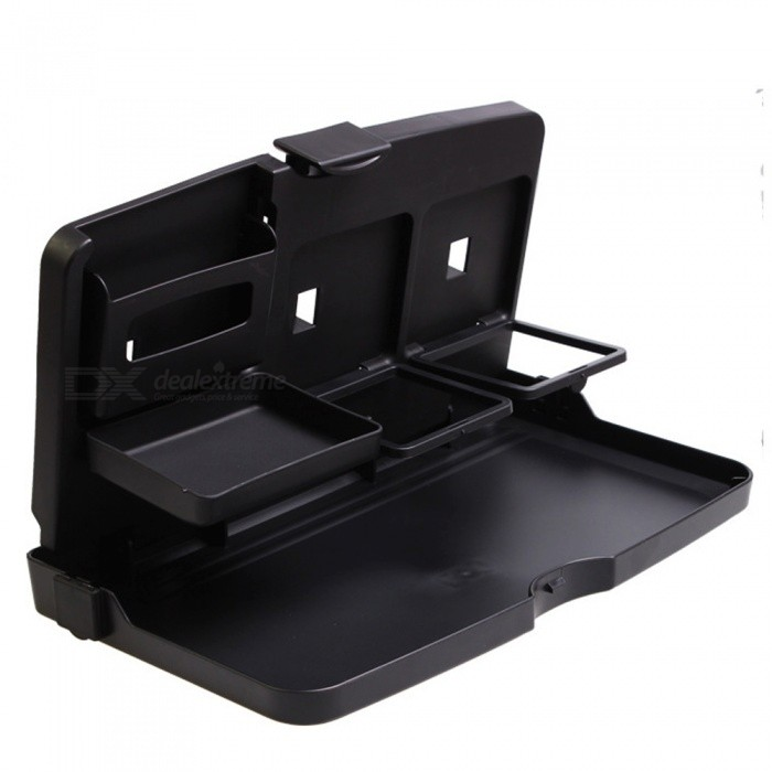 ZHAOYAO-Car-Meal-Table-Folding-Multi-Layer-Bracket-Dining-Drink-Tray-Holder-Black