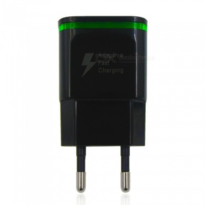 5V 2A Quick Charge EU Plug USB Charger Power Adapter USB AC Charger - Black