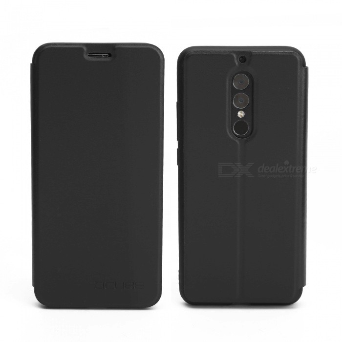 OCUBE Protective Flip-open PU Leather Case for UMIDIGI S2 / S2 Pro - Black