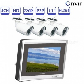 Strongshine-NVR4-ONVIF-Mini-4CH-720P-H264-NVR-KIT-Build-in-11-LCD-Screen-with-10-MP-IP-Camera-Silver-2b-White-(AU-Plug)