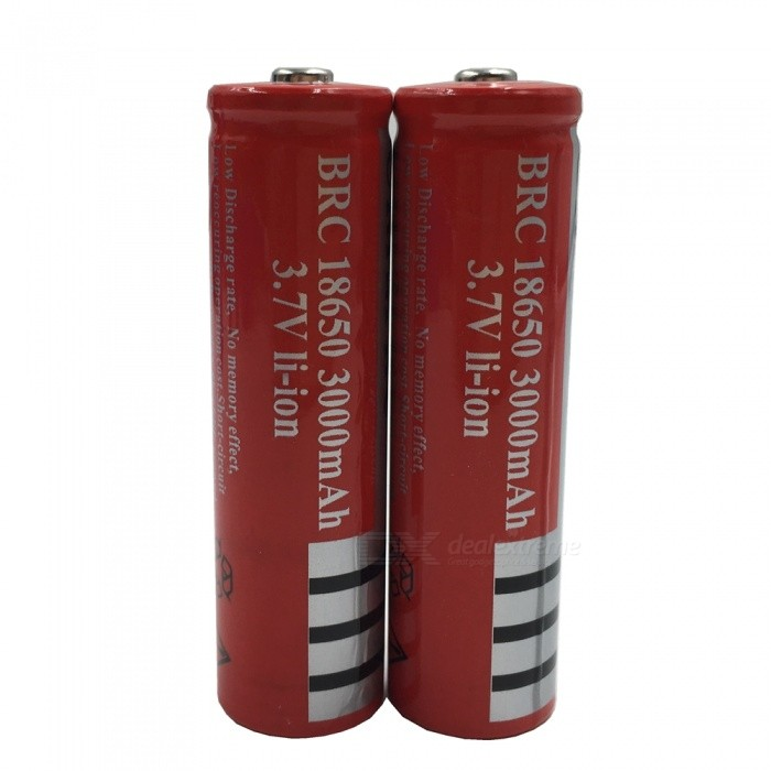 Buy ZHAOYAO 18650 3.7V 3000mAh Rechargeable Lithium Battery - Red (2PCS) with Litecoins with Free Shipping on Gipsybee.com