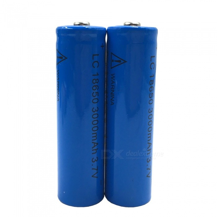 Buy ZHAOYAO 18650 3.7V 3000mAh Rechargeable Lithium Battery - Blue (2PCS) with Litecoins with Free Shipping on Gipsybee.com