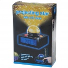 "4.0"" LCD Digital Alarm Clock Thermometer with 7-Color Projecting Stars/Nature Sounds (3*AAA/3*AAA)"