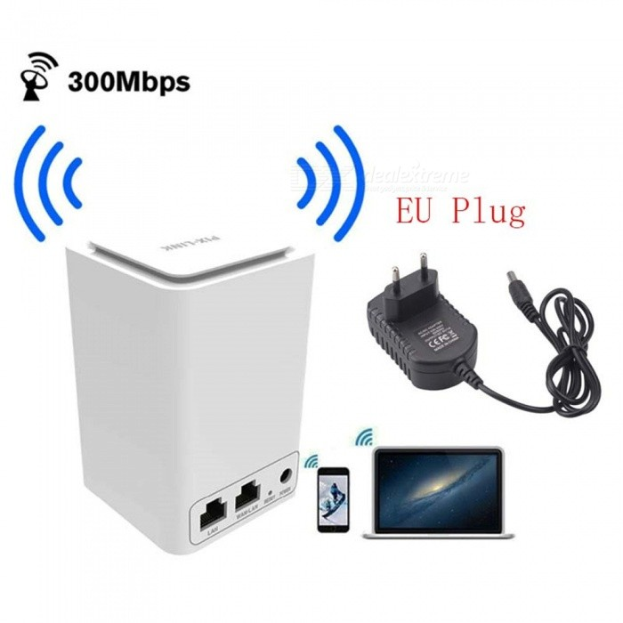 Wireless-Router-Wi-Fi-Mini-Signal-Relays-300M-24GHz-Wi-Fi-80211-bgn-Router-White-(EU-Plug)