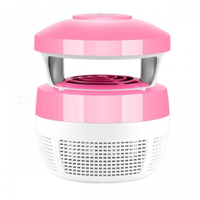 Fan Suction LED Light Source Household Mosquito Killer - Pink + WhiteForm  ColorPink + WhiteQuantity1 DX.PCM.Model.AttributeModel.UnitMaterialPlastic, electronic components.FunctionNo radiation, LED light source, inhaled anti-mosquito, environmental protection energy saving.Power5WPower AdapterUSBOther FeaturesUSB power supplyPacking List1 x Mosquito lamp<br>