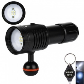 AIBBER-TONE-4W2R-White-Red-LED-Scuba-Diving-Flashlight-Torch-Underwater-Photography-Light-Video-Lamp