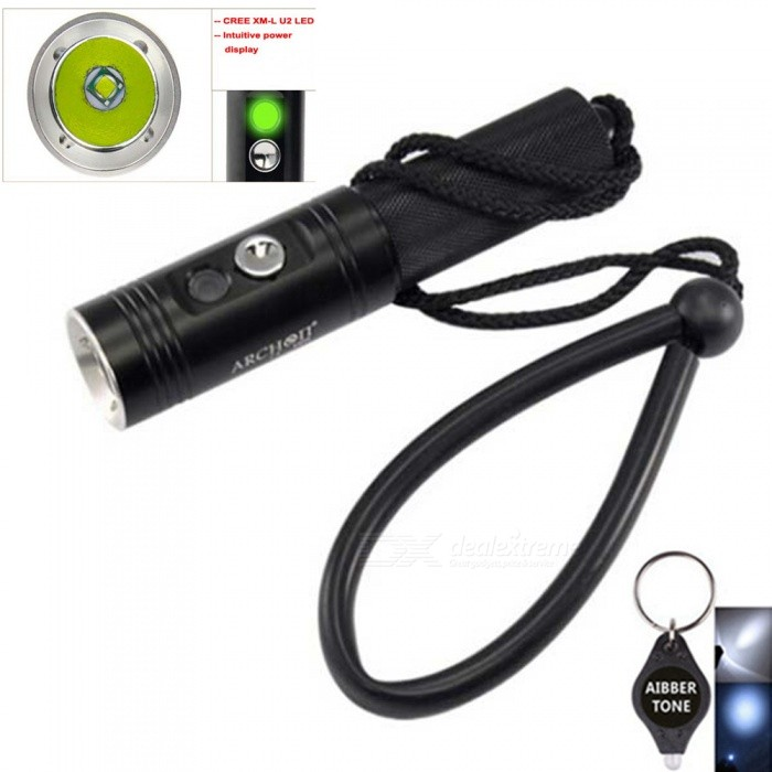 ARCHON-V10S-Waterproof-XM-L-U2-MAX-860LM-Professional-3-Mode-Diving-LED-Flashlight-Torch-By-18650-Battery