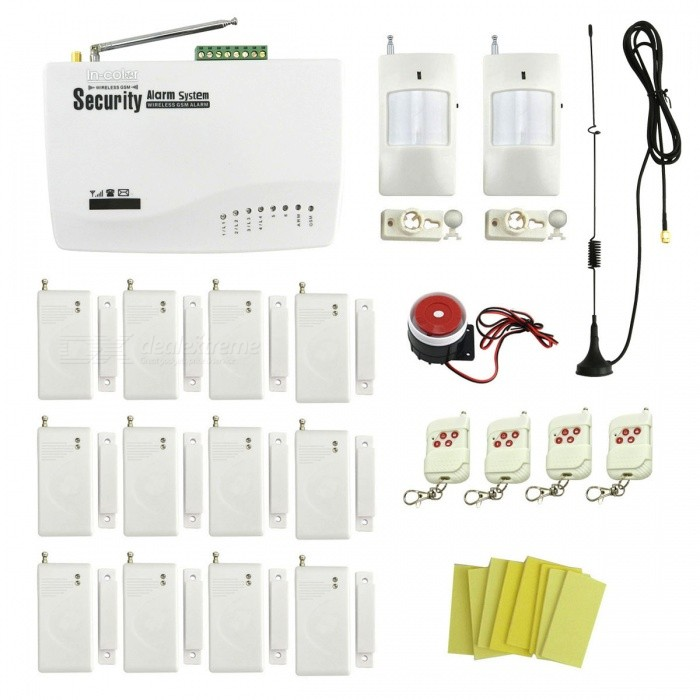 IN-Color-Wireless-GSM-Autodial-Home-Garage-Security-Alarm-System-with-12Pcs-Door-Window-Detectors