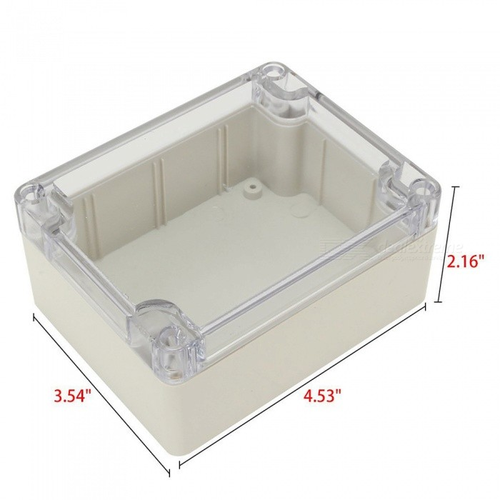 RXDZ 4.53quotx3.54quotx2.16quot 115mmx90mmx55mm ABS Junction Box Electric Project Enclosure Clear Cover 2 PCS