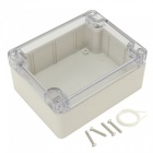 "RXDZ 4.53""x3.54""x2.16"" 115mmx90mmx55mm ABS Junction Box Electric Project Enclosure Clear Cover"
