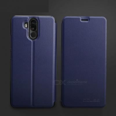 OCUBE Protective Flip-open PU Leather Case for Ulefone Power 3 - Blue