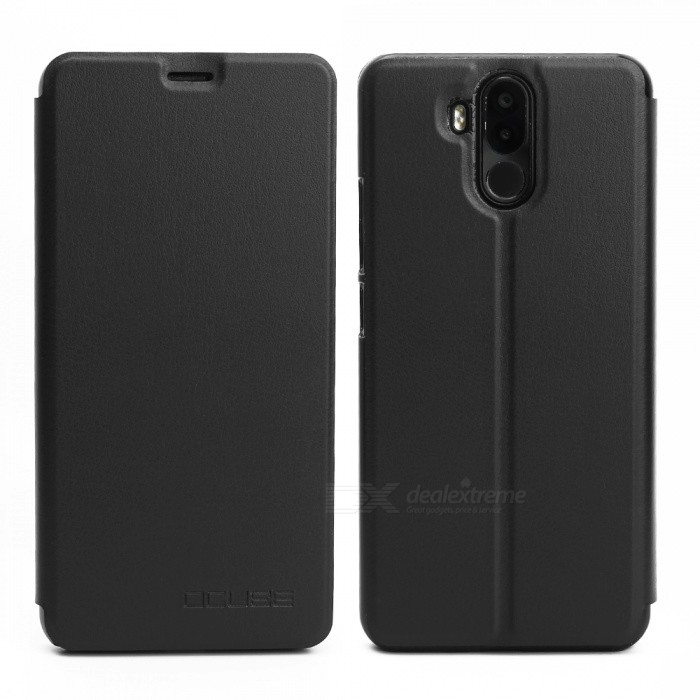 Buy OCUBE Protective Flip-open PU Leather Case for Ulefone Power 3 - Black with Litecoins with Free Shipping on Gipsybee.com
