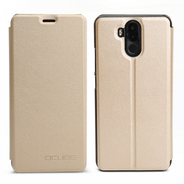 OCUBE Protective Flip-open PU Leather Case for Ulefone Power 3 - GoldenLeather Cases<br>ColorGoldenModel-MaterialPU+PCQuantity1 pieceShade Of ColorGoldCompatible ModelsUlefone Power 3FeaturesAnti-slip,Dust-proof,Shock-proofPacking List1 x Case<br>