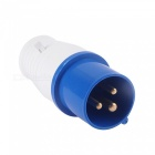 ZHAOYAO-240V-16A-3-Pin-Waterproof-Industrial-Electrical-Socket-Connector-Plug-Blue-(5-PCS)