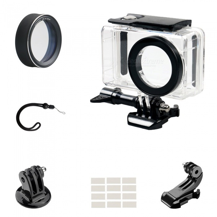 MCUV Protective Lens Cover + Camera Waterproof Shell + J Type Base + Strap + Other Parts for Xiaomi MiJia
