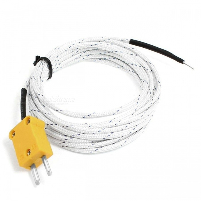 RXDZ 2PCS Air Temperature Test 3 Meters K Type Thermocouple Probe Cable -30 to 400CDIY Parts &amp; Components<br>ColorWhiteQuantity2 DX.PCM.Model.AttributeModel.UnitMaterialElectronic parts and fabricsEnglish Manual / SpecNoCertificationNOPacking List2 x Thermocouple Probe<br>