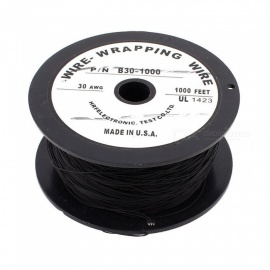 RXDZ-Imported-90m-295Ft-200C-Flexible-PVDF-Wire-Wrapped-Wire-30AWG-Wire-Cable-Roll-Black