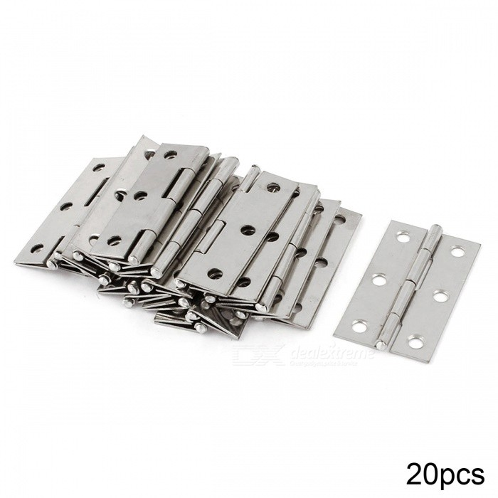 RXDZ 6 Mounting Holes Stainless Steel Butt Hinges 2.2 Long - 20PCSDIY Parts &amp; Components<br>ColorSilverQuantity20 DX.PCM.Model.AttributeModel.UnitMaterialstainless steelEnglish Manual / SpecNoCertificationNOPacking List20 x Butt Hinge<br>