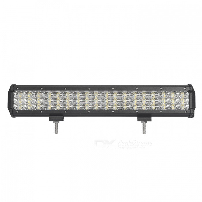 MZ 17.5 Inches Tri-Row 162W LED Work Light Bar Combo 16200LM for OffroadDecorative Lights / Strip<br>Color BIN162W COMBOForm  ColorBlackEmitter TypeLEDChip BrandCreeChip TypeN/ATotal EmittersOthers,54PowerOthers,162WColor Temperature6000 DX.PCM.Model.AttributeModel.UnitTheoretical Lumens19440 DX.PCM.Model.AttributeModel.UnitActual Lumens16200 DX.PCM.Model.AttributeModel.UnitRate Voltage10-30V DCWaterproof FunctionYesConnector TypeOthers,WiredApplicationHeadlamp,Foglight,Roof light,Daytime running lightModelTri-Row-162W-CQuantity1 DX.PCM.Model.AttributeModel.UnitMaterialAluminumPacking List1 * LED Work Light<br>