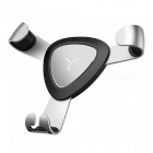 ZHAOYAO-Aluminum-Alloy-Triangular-Paw-Shape-Gravity-Car-Air-Outlet-Phone-Bracket-Silver